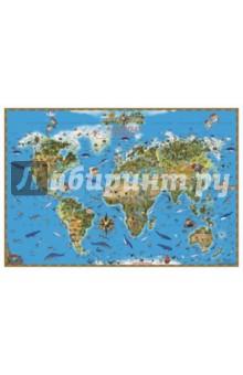 Карта мира Обитатели Земли для детей (НД30075)