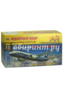 Купить Пассажирский авиалайнер Боинг 787-8 Дримлайнер (7008П), Звезда, Пластиковые модели: Авиатехника (1:144)