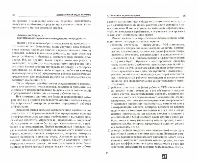 Иллюстрация 1 из 7 для Эффективный отдел продаж. Персонал, тактика, стратегия - Анна Бочарова | Лабиринт - книги. Источник: Лабиринт