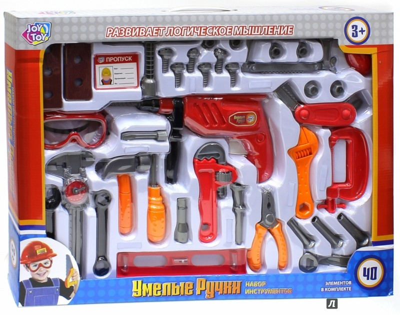 Иллюстрация 1 из 4 для Набор инструментов. 40 предметов в коробке (GT7715) | Лабиринт - игрушки. Источник: Лабиринт