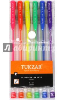 Набор ручек гелевых. Неон. 6 цветов (TZ 142- 6) tukzar tukzar набор шариковых ручек  10 цветов