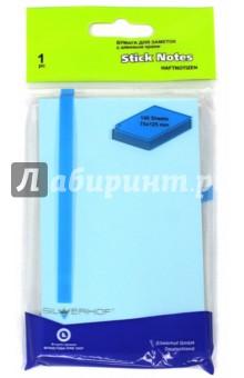 Бумага клейкая для заметок. 100 листов, 75х125 мм, голубая (682005-004)