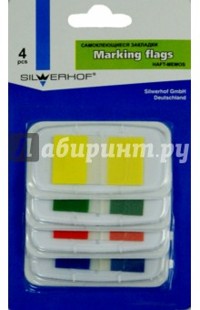 Закладки самоклеящиеся. 4 цвета. 10 листов. 43х25 мм (801008) закладки самоклеящиеся пластиковые 25 мм 22 шт 680 r lru
