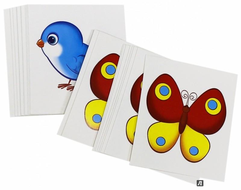 Иллюстрация 1 из 2 для Счетный материал. Набор из 20 карточек. Птички, бабочки | Лабиринт - книги. Источник: Лабиринт