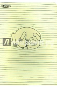 """Тетрадь общая """"Полосаты"""" (120 страниц, А5, в ассортименте) (M-1010560)"""