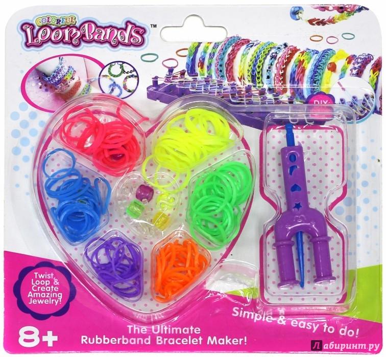 Иллюстрация 1 из 4 для Набор цветных резиночек Сердце (180 штук) (TZ 12854) | Лабиринт - игрушки. Источник: Лабиринт