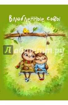 Блокнот Влюбленные совы, А5- блокноты booratino деревянный блокнот а5