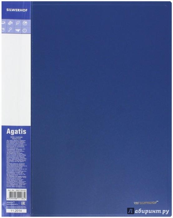 Иллюстрация 1 из 2 для Папка А4, 20 файлов, AGATIS, синий (292720-02) | Лабиринт - канцтовы. Источник: Лабиринт