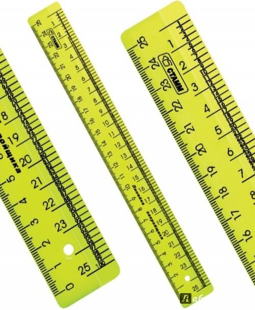 Иллюстрация 1 из 3 для Линейка закройщика NEON Cristal (25 см) (ЛН620) | Лабиринт - канцтовы. Источник: Лабиринт