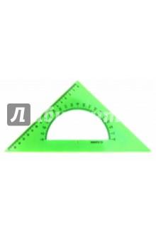 Треугольник с транспортиром, 16 см, 45*, NEON Cristal, 4 цвета (ТК61)