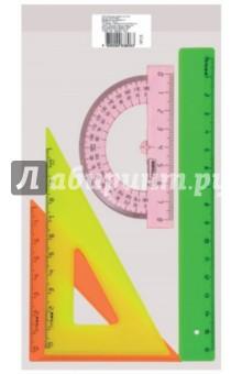 Набор для черчения малый, цветной (в ассортименте) (НГ12)