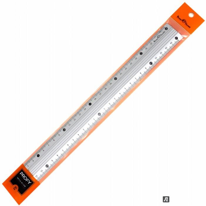 Иллюстрация 1 из 3 для Линейка металлическая. Рифленая. 30 см. PROFY (45-0104) | Лабиринт - канцтовы. Источник: Лабиринт
