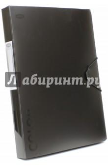 Папка-бокс с резинкой, чёрный металлик (85566)