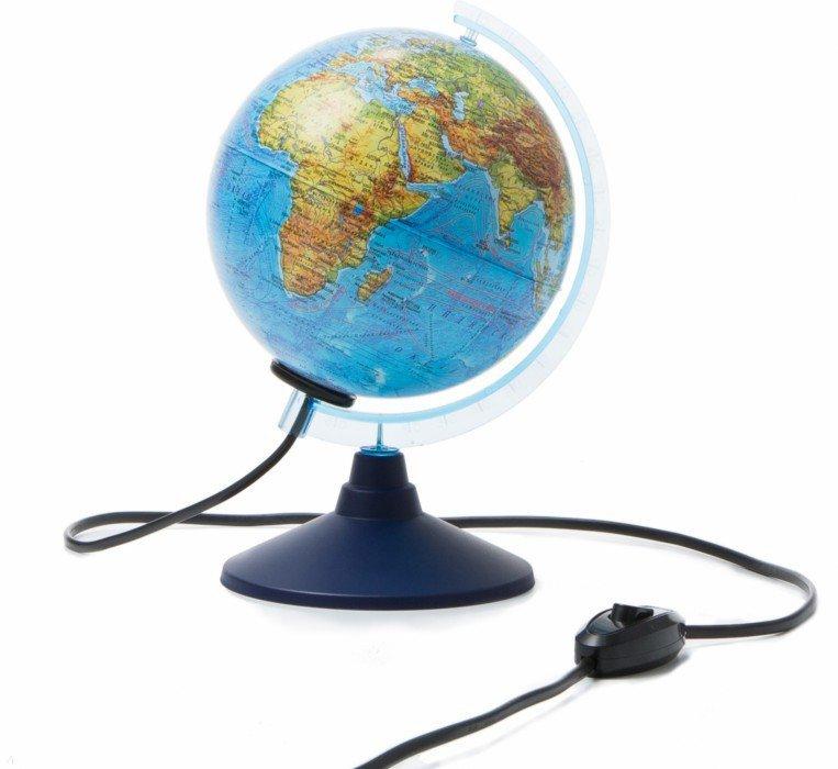 Иллюстрация 1 из 7 для Глобус Земли физико-политический, d-150 мм, подсветка (Ке011500201)   Лабиринт - канцтовы. Источник: Лабиринт