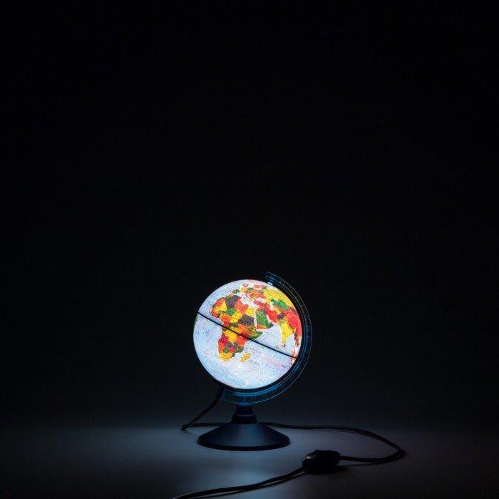 Иллюстрация 1 из 6 для Глобус Земли физико-политический, d-150 мм, подсветка (Ке011500201) | Лабиринт - канцтовы. Источник: Лабиринт