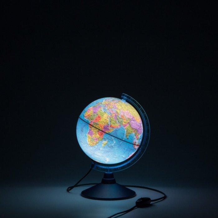 Иллюстрация 1 из 2 для Глобус Земли политический с подсветкой (d=210 мм) (Ке012100180) | Лабиринт - канцтовы. Источник: Лабиринт