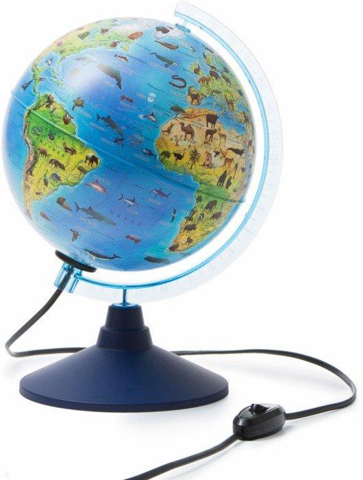 Иллюстрация 1 из 12 для Глобус детский Зоогеографический с подсветкой (d=210 мм) (Ке012100208) | Лабиринт - канцтовы. Источник: Лабиринт