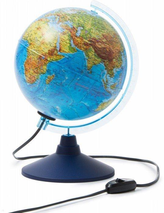 Иллюстрация 1 из 7 для Глобус Земли физико-политический с подсветкой (d=210 мм) (Ке012100181) | Лабиринт - канцтовы. Источник: Лабиринт