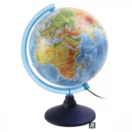 Иллюстрация 1 из 2 для Глобус Земли физико-политический с подсветкой (d=250 мм) (Ке012500191) | Лабиринт - канцтовы. Источник: Лабиринт