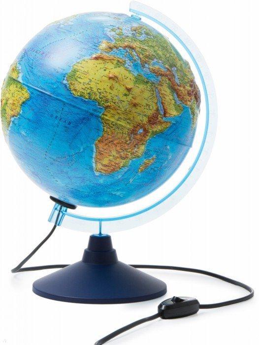 Иллюстрация 1 из 5 для Глобус Земли физический рельефный с подсветкой (d=250 мм) (Ке022500194)   Лабиринт - канцтовы. Источник: Лабиринт