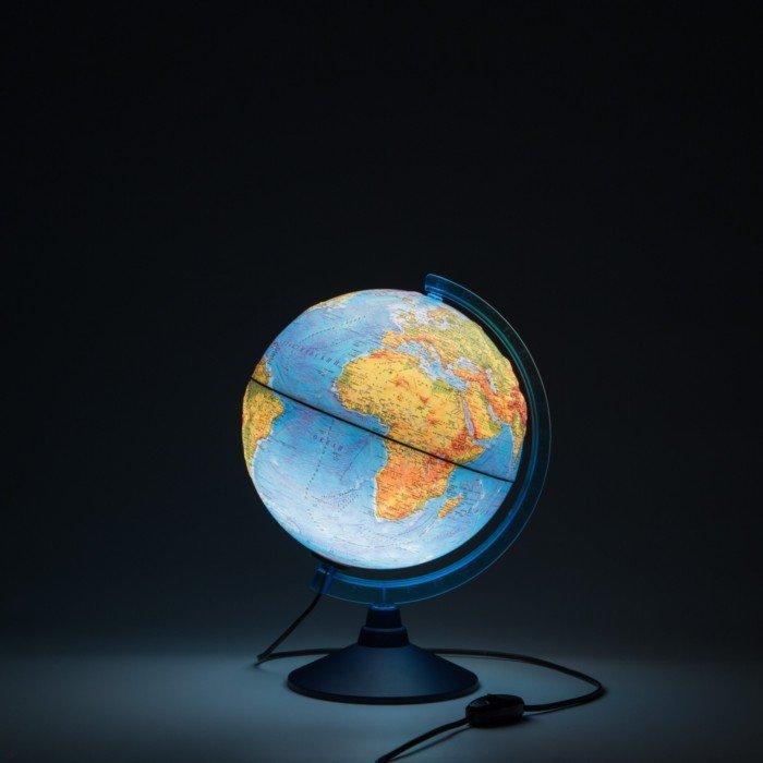 Иллюстрация 1 из 4 для Глобус Земли физический рельефный с подсветкой (d=250 мм) (Ке022500194) | Лабиринт - канцтовы. Источник: Лабиринт