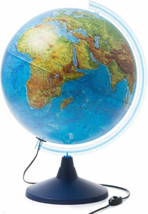 Иллюстрация 1 из 14 для Глобус Земли физический, d=400 мм, с подсветкой (Ке014000244) | Лабиринт - канцтовы. Источник: Лабиринт