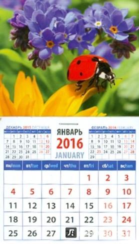 Иллюстрация 1 из 6 для Календарь на магните на 2016 год. Божья коровка и незабудки (20619) | Лабиринт - сувениры. Источник: Лабиринт