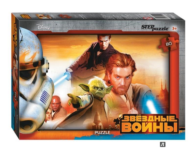 """Иллюстрация 1 из 7 для Step Puzzle-80 """"Disney. Звёздные войны"""" (77136)   Лабиринт - игрушки. Источник: Лабиринт"""