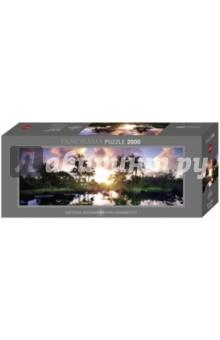 Puzzle-2000 Побережье-пальмы, панорама (29676) сенсорные купить до 2000 грн