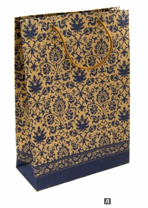 """Иллюстрация 1 из 6 для Пакет бумажный """"Фиолетовый узор"""" (24х33х8 см) (38870)   Лабиринт - сувениры. Источник: Лабиринт"""