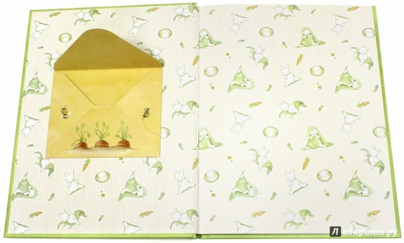 Иллюстрация 1 из 46 для Маленькие заиньки. Твой первый год. Альбом для записей | Лабиринт - сувениры. Источник: Лабиринт