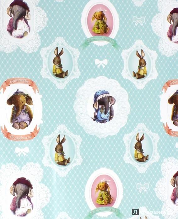 """Иллюстрация 1 из 2 для Бумага упаковочная """"Зверята"""" (39488)   Лабиринт - сувениры. Источник: Лабиринт"""