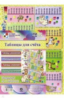 Комплект плакатов. Таблицы для счёта. 4 плаката. ФГОС таблица умножения таблица деления таблица вертушка