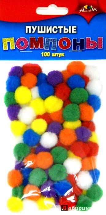 Иллюстрация 1 из 8 для Пушистые помпоны (100 штук, 7 цветов) (С2576-01) | Лабиринт - игрушки. Источник: Лабиринт
