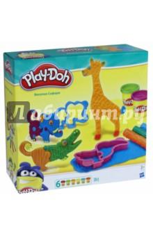 Игровой набор Веселое сафари (B1168) play doh набор для лепки магазинчик печенья play doh