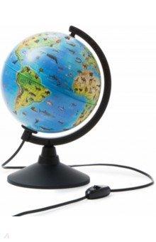 Глобус Земли зоогеографический детский, d 210, подсветка (К012100206) Globen