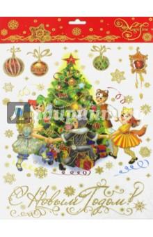 Украшение новогоднее оконное (38620)