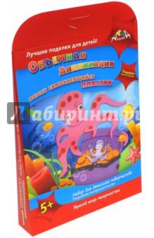 Аппликация из мягкого пластика самоклеящегося Осьминожек (С2410-01) аппликация из мягкого самоклеящегося пластика черепашка с2410 05