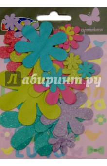Цветы с блестками для декора, 25 штук (0620264) uriage урьяж салфетки с очищающей мицеллярной водой 25 штук 25 штук