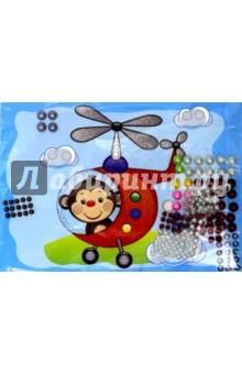 Набор для детского творчества Жемчужная сказка. Вертолёт (ANMT-34) набор для творчества стразы рисинки 180шт 8мм черные в блистере