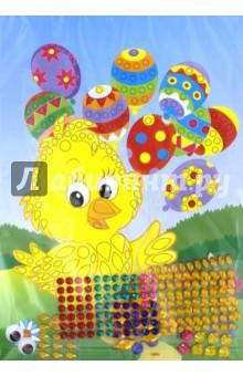 Набор для детского творчества Сказочные самоцветы. Цыплёнок (ANMT-48) набор для творчества стразы рисинки 180шт 8мм черные в блистере