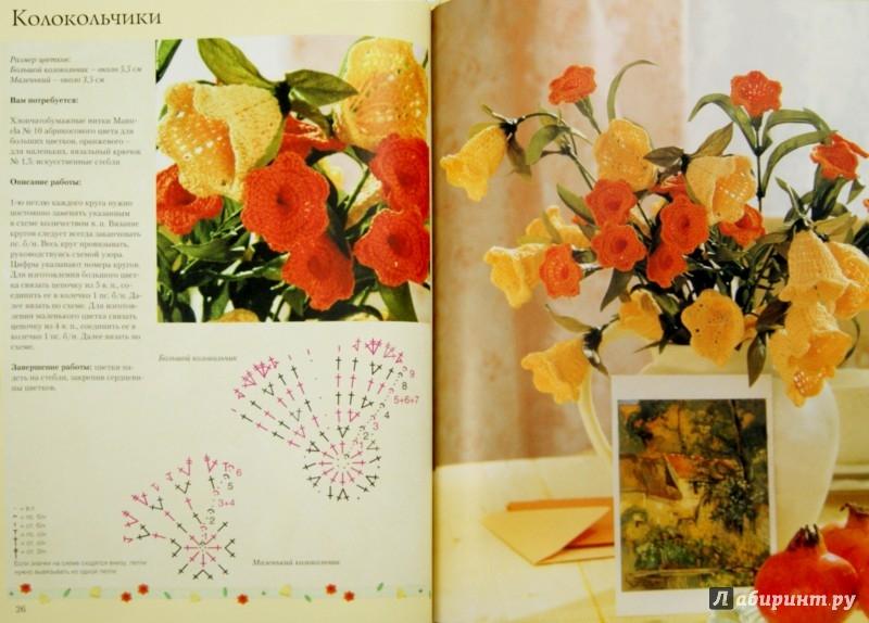 Иллюстрация 1 из 33 для Вязаные цветы и плоды: Цветные схемы. Техника вязания - Сабина Шиделко | Лабиринт - книги. Источник: Лабиринт
