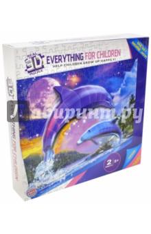 Пазл бумажный объемный 3D Дельфины, 60х45 см (TZ12733) пазлы magic pazle объемный 3d пазл эйфелева башня 78x38x35 см
