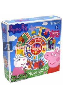 Карусель-лото + пазл-16 Peppa Pig. Чемпионы (01603) пазл 4 в 1 peppa pig транспорт 01597