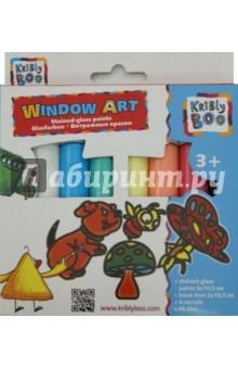 Набор Window Art. Витражные краски с трафаретами (60770) kribly boo набордляраскрашивания