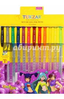Набор ручек гелевых суперметаллик, 12 цветов (TZ 5208-12) tukzar tukzar набор шариковых ручек  10 цветов