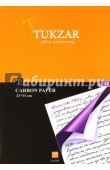 Бумага копировальная (фиолетовая, 100 листов) (TZ 259) ж лтая зел ная красная копировальная бумага купить