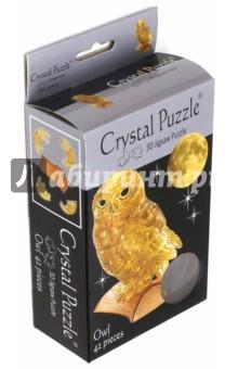 3D головоломка Сова янтарная (90247) 3d головоломка crystal puzzle эйфелева башня 91107