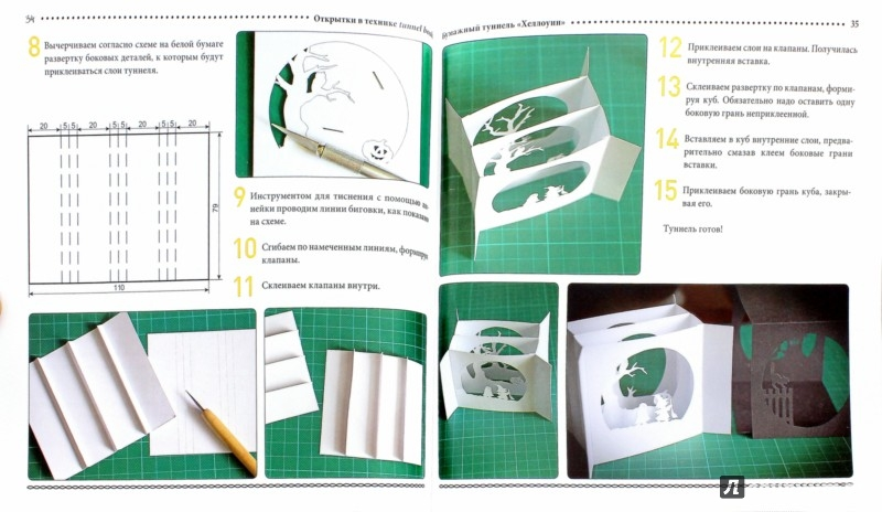 Иллюстрация 1 из 21 для Открытки в технике tunnel book - Анна Шиденко | Лабиринт - книги. Источник: Лабиринт