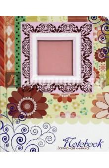 Записная книжка Розовые узоры, 80 листов, клетка. А6 (С1958-05) записная книжка а6 10 14см 46л клетка anan the lonely wolf картонная обложка на сшивке